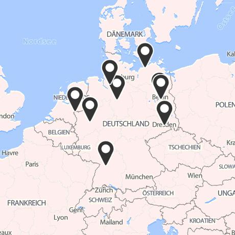 Veranstaltungsorte in Kartenansicht